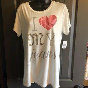 Miss Me T-Shirt - I ♥️ My Jeans - NWT